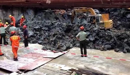 深圳一地铁施工区域局部坍塌 有3名工人被困