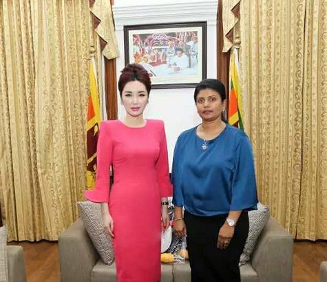 中斯友谊源远流长,斯里兰卡国公主和总统助理会见王曼郦主席一行