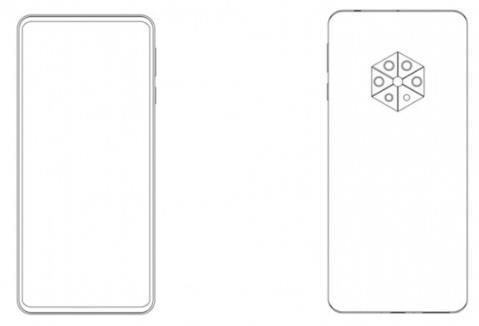 华为屏下摄像头手机专利曝光:后置六边形五摄